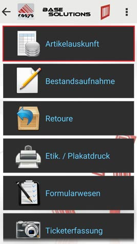 Artikelauskunft Android Software