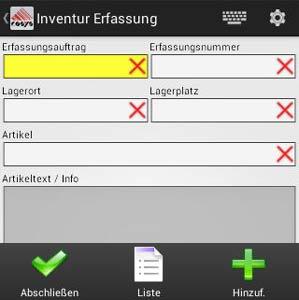 Inventur Erfassung Android Software von COSYS