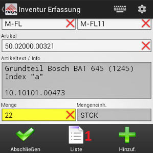 Inventur Android Software von COSYS
