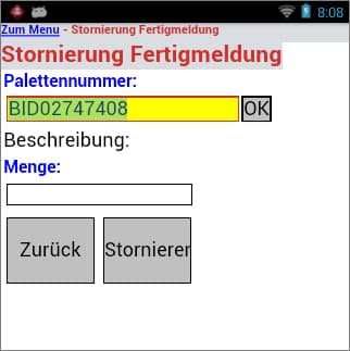 Fertigmeldung Software Qualitätsmanagement