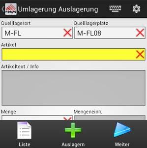 Umlagerung Android App von COSYS