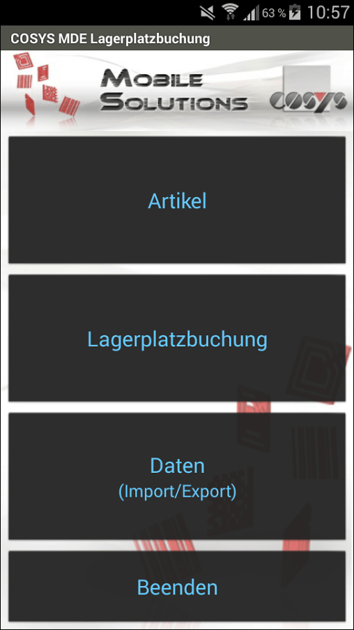 COSYS Android Lagerplatzumbuchung