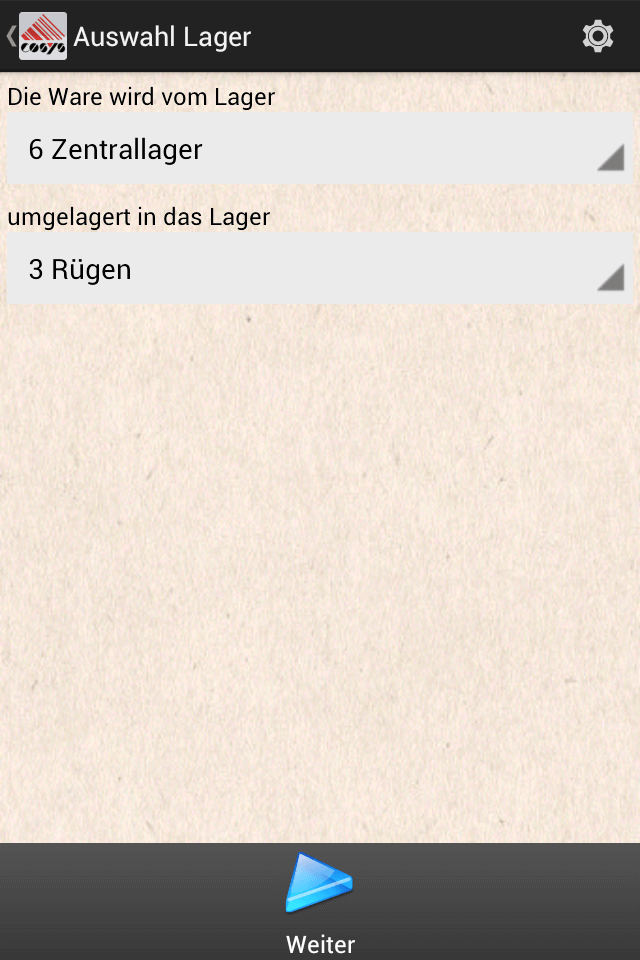 COSYS Android Umlagerung